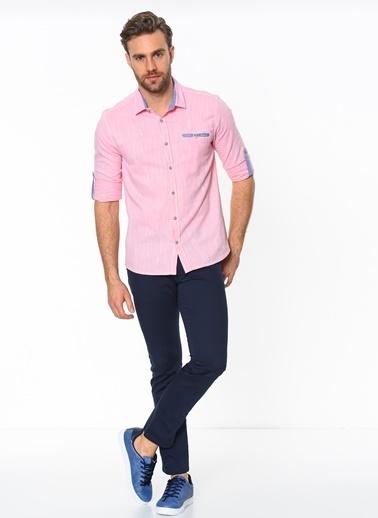 Slim Fit Uzun Kollu Oxford Gömlek-Cazador